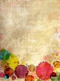 Textur av den gammala stuckaturväggen med fläckar av målarfärg Royaltyfria Bilder