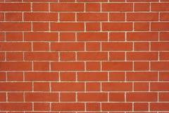 Textur av den ideala väggen för röd tegelsten Arkivfoto