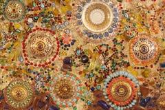 Textur av den keramiska väggen fotografering för bildbyråer
