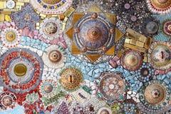 Textur av den keramiska väggen arkivbild