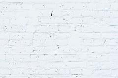 Textur av den målade packade tegelstenväggen som är förberedd för att dra idérika grafitti För bakgrunder och bakgrunder Royaltyfria Foton