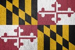 Textur av den Maryland flaggan royaltyfria bilder