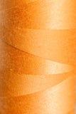 Textur av den orange tråden Fotografering för Bildbyråer