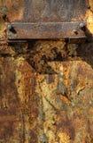 Textur av den oxiderade metallplattan Arkivbilder