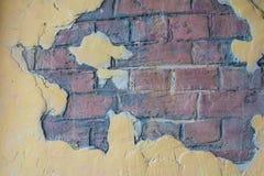 Textur av den retro tegelstenväggen för tappning arkivfoto
