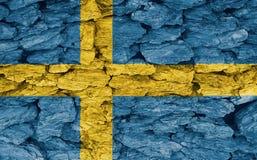 Textur av den Sverige flaggan royaltyfri fotografi