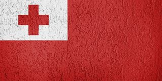 Textur av den Tonga flaggan royaltyfri illustrationer