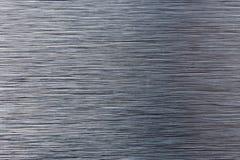 Textur av den verkliga borstade titanplattan Fotografering för Bildbyråer