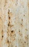 Textur av den vita väggen med rost och korrosion Royaltyfria Foton