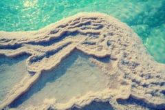 Textur av det döda havet royaltyfria foton