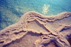 Textur av det döda havet Arkivfoto