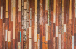 Textur av det dekorativa gamla wood väggbandet Royaltyfria Foton