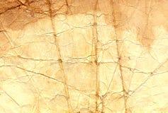Textur av det gamla krossade papperet Fotografering för Bildbyråer