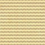 Textur av det gamla papperet med den retro geometriska dekorativa modellen Arkivbild
