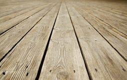 Textur av det gammala wood golvet Royaltyfria Bilder