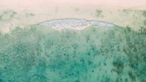 Textur av det karibiska havet 2 arkivbilder