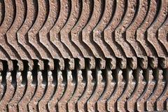 Textur av det staplade tegelplattataket arkivbilder