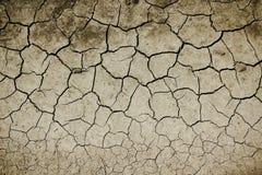 Textur av det torra landet med sprickor i jorden, torka på jordningen arkivbilder