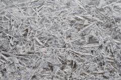 Textur av is, djupfrysta Han River på Dumulmeori, Yangpyeong, Korea royaltyfri bild