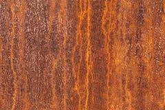 Textur av en anfrätt metallplatta Arkivfoto