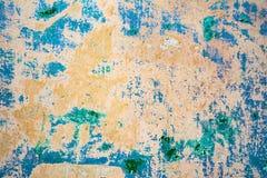 Textur av en gammal vägg av en forntida byggnad med ett förstört murbruklager Royaltyfri Fotografi