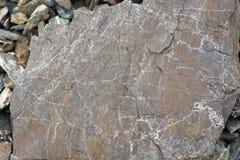 Textur av en hög av bergstenar Royaltyfri Foto
