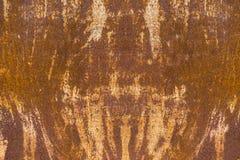 Textur av en rostig metallplatta Arkivfoto