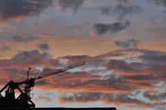 Textur av en solnedgång Royaltyfria Bilder