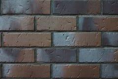 Textur av en tegelplattaclinker på en vägg Arkivfoto