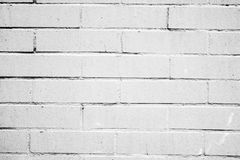 Textur av en vit vägg med tegelstenar Royaltyfria Bilder