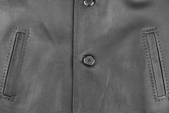 Textur av ett läderomslag med fack på knappar Royaltyfri Bild