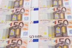 Textur av euro femtio Fotografering för Bildbyråer