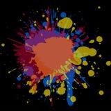 Textur av färgstänk i grungestil Arkivbilder