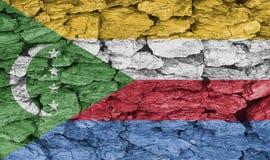 Textur av flaggan av Comoros vektor illustrationer
