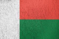 Textur av flaggan Madagascar arkivbild
