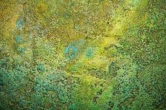 Textur av forntida bronsmetallyttersida, abstrakt bakgrund, tapet arkivbild
