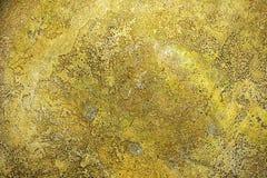 Textur av forntida guld- metallyttersida, abstrakt bakgrund, tapet Fotografering för Bildbyråer