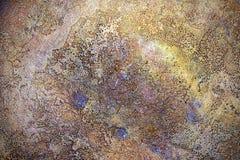 Textur av forntida metallyttersida, abstrakt bakgrund, tapet Royaltyfri Bild
