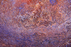 Textur av forntida metallyttersida, abstrakt bakgrund, tapet Royaltyfria Foton