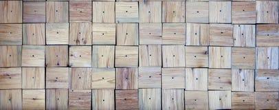 Textur av fyrkantiga träbräden, med enframkallad textur Arkivfoto