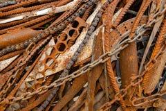 Textur av gamla och rostiga metaller arkivfoto