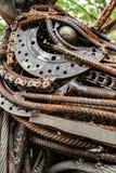 Textur av gamla och rostiga metaller royaltyfri foto
