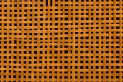 Textur av gammal bambu som väver med hål Fotografering för Bildbyråer
