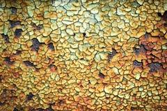 Textur av gammal målarfärg med sprickor Royaltyfri Foto
