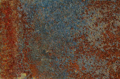 Textur av gammal och rostig metall Arkivbild