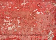Textur av gammal röd metall royaltyfria foton