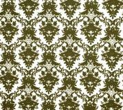 Textur av gammalmodiga wallpapers Arkivfoto