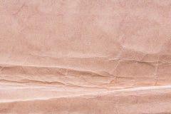 Textur av gammalt sjaskigt och skrynkligt papper, tappningstil, abstrakt bakgrund Royaltyfri Fotografi