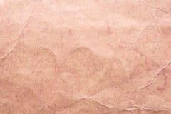 Textur av gammalt sjaskigt och skrynkligt papper, tappningstil, abstrakt bakgrund Royaltyfri Bild