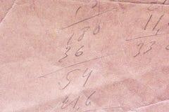 Textur av gammalt sjaskigt och skrynkligt papper, tappningstil, abstrakt bakgrund Royaltyfria Bilder